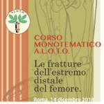 Roma, 14 dicembre 2018 – CORSO MONOTEMATICO A.L.O.T.O. Le fratture dell'estremo distale del femore