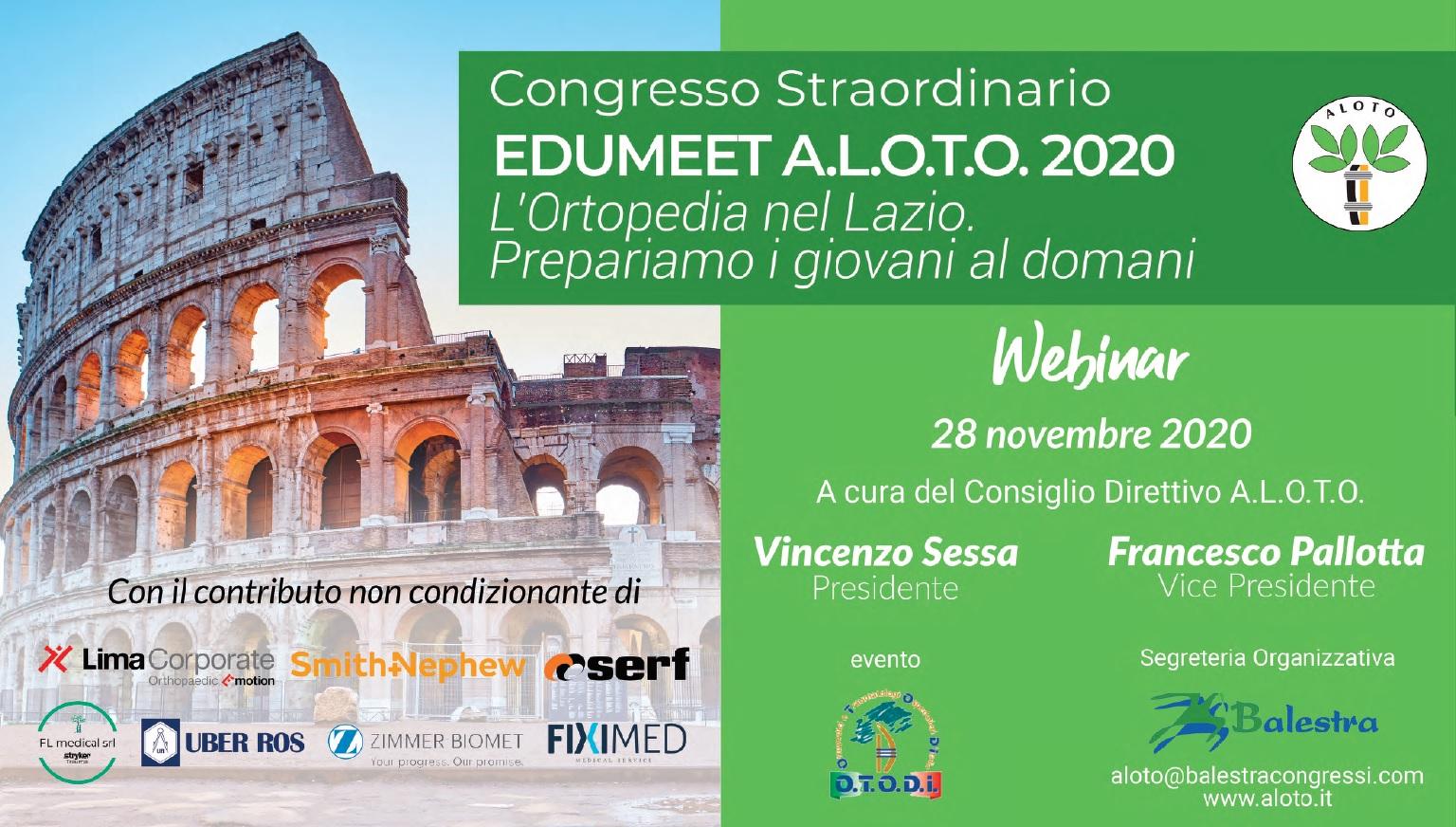 28 NOV | Congresso Straordinario EDUMEET A.L.O.TO. 2020